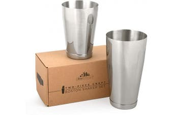 Premium Weighted Cocktail Shaker Set: Two-Piece Pro Boston Shaker Set. 530ml & 830ml Martini Drink Shaker