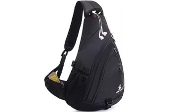 (Black) - Sling Backpack Men Women | Sling Bag Waterproof Large Capacity 36cm Laptop | Chest Bag Shoulder Crossbody Bag Triangle Backpack Outdoor Travelling Cycling Hiking Running