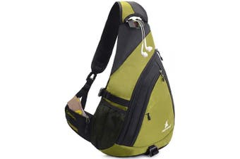 (Green) - Sling Backpack Men Women | Sling Bag Waterproof Large Capacity 36cm Laptop | Chest Bag Shoulder Crossbody Bag Triangle Backpack Outdoor Travelling Cycling Hiking Running