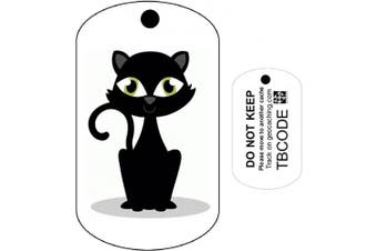 Black Cat (Travel Bug) For Geocaching - Trackable Tag - Unactivated