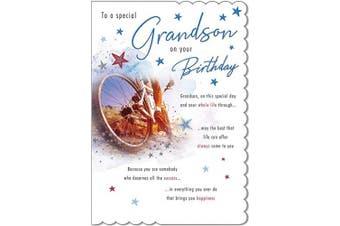 Traditional Birthday Card Grandson - 23cm x 15cm - Piccadilly Greetings