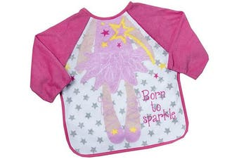 (One Size, Pink Princess) - Baby Boys and Girls Novelty Terry Bib with Sleeves