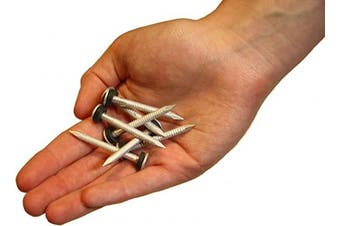 (x200) - Minuteman 4.4cm Aluminium Ring Shank Nails with rubber washers (x 200)