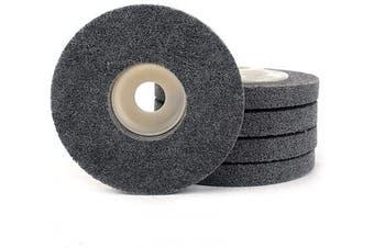 (grey) - 5Pcs 10cm Nylon Fibre Buffing Polishing Wheel Sanding Abrasive Disc Grey 7P for Angle Grinders 10016