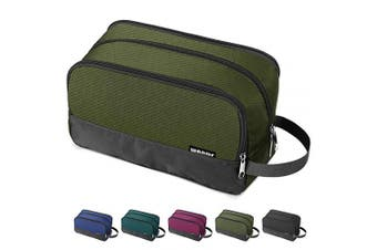 (Army Green) - Toiletry Bag Small Nylon Dopp Kit Lightweight Shaving Bag for Men and Women (Army Green)