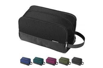 (Black) - Toiletry Bag Small Nylon Dopp Kit Lightweight Shaving Bag for Men and Women (Black)