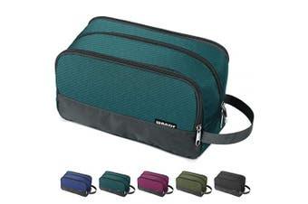 (A-Malachite Green) - Toiletry Bag Small Nylon Dopp Kit Lightweight Shaving Bag for Men and Women (Malachite Green)