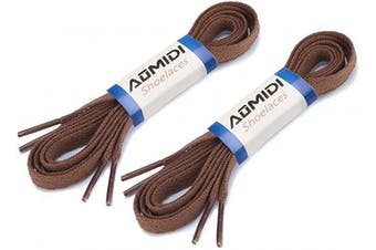 (114 cm, Light Brown) - Flat Shoelaces (2 Pairs) - For sneakers and converse shoelaces replacements