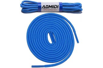 (183 cm, Blue) - Shoelaces Round Athletic Shoes Lace (2 Pairs) - for Shoe and Boot Laces Shoelaces Replacements