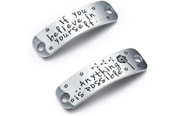 CJ & M If You Believe In Yourself. Anything Is Possible Lace Tag,Trainer Tags,Gift For Runner,Fitness Gym Gift,Get Fit Running,Runners Gift,Shoelace Charm,Inspirational Gift For Girls