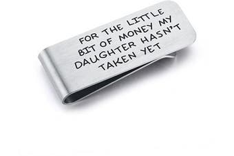 CJ & M Money Clip For Dad - Father's Day Gift - For The Little Bit Of Money My Daughter Hasn't Taken Father Money Clip,Father of the Bride Gift,Dad Money Clip - Father's Day Gift from Daughter
