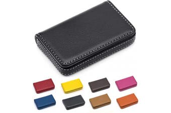 (Black) - Padike Business Name Card Holder Luxury PU Leather,Business Name Card Holder Wallet Credit Card ID Case/Holder for Men & Women - Keep Your Business Cards Clean (Black)