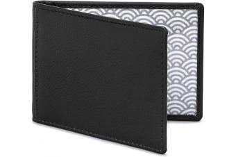 (Black) - Duke Leather Travel Pass Holder by Yoshi (Black)
