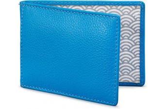 (Cobalt Blue) - Duke Leather Travel Pass Holder by Yoshi (Cobalt Blue)