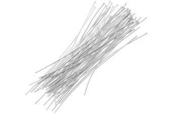 Beadaholique 50-Piece Head Pins, 24-Gauge, 2.5cm , Silver