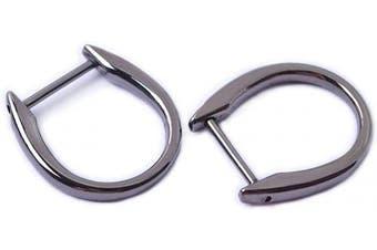 (7/8'', Black Gun) - Bobeey 4pcs 2.2cm Black Gun Loop D-Rings,Screw In Shackle Semicircle D Ring,DIY Leather Craft Accessories,Purse Findings BBC12 (7/8'', Black Gun)