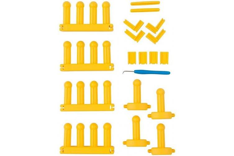 Authentic Knitting Board KB Zippy Master Set, 18cm X 38cm , Yellow