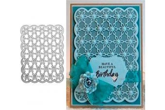 Christmas Flower Daisy Metal Die Cuts,Lace Background Wedding Invitation Cutting Dies Cut Stencils for DIY Scrapbooking Photo Album Decorative Embossing Paper Scrapbooking Card Making