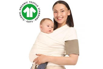 (Ivory) - Baby Wrap Carrier Holder - Ivory - Toddler, Newborn, Infant, Child - Front, Hip and Kangaroo Holds - Ergonomic Baby Wearing for Men and Women - Organic Cotton