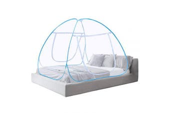 (White) - Vangold Mosquito Net Bed Canopy Pop Up Foldable Double Door with Bottom Anti Mosquito Bites for Bed Camping Travel Home Outdoor(King Size, 180 x 200 x 150 cm) - 2 Years Warranty (White)