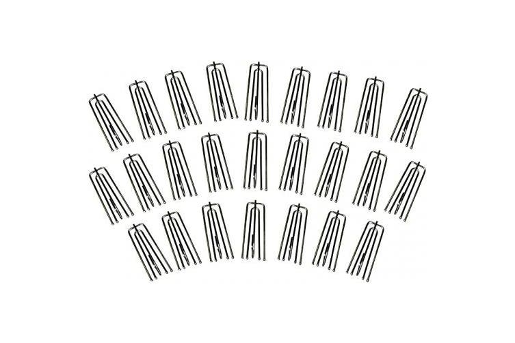 (25PCS, Silver) - MJMP Curtains Pleat Tape End Hooks to Make Pleats Stainless Steel (25)