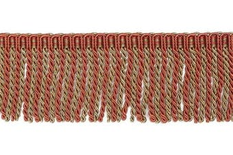 (Orange) - BEL AVENIR Bullion Fringe Trim Basic Trim Collection 6.8 Yard x 6.4cm (Orange)