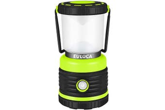 EULOCA Portable LED Camping Lantern, Massive Brightness with Fully Adjustable 360 Arc Lighting 1200lm, Dimmable, 4 Lighting Modes, Tent Light for Home, bivvy, Garden, Outdoor, Hiking, Fishing