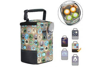 (one size, animals) - Baby Bottle Bag Insulated Breastmilk Cooler Tote Bag for Travel (fit Four 240ml Bottles)