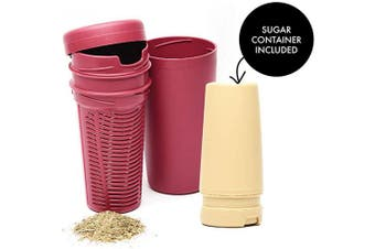 (Light Brown - Beige) - BALIBETOV Premium Yerba Mate Dust Remover I Mate Gourd Cup Accessory reduces bitterness and acidity (Light Brown - Beige)