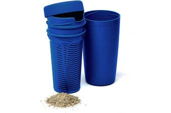 (Blue) - BALIBETOV Premium Yerba Mate Dust Remover I Mate Gourd Cup Accessory reduces bitterness and acidity (Blue)