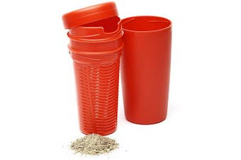 (Red) - BALIBETOV Premium Yerba Mate Dust Remover I Mate Gourd Cup Accessory reduces bitterness and acidity (Red)