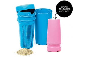 (Light Blue - Pink) - BALIBETOV Premium Yerba Mate Dust Remover I Mate Gourd Cup Accessory reduces bitterness and acidity (Light Blue - Pink)