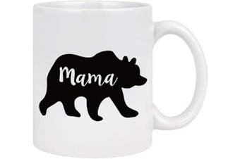 (White) - Mama Bear Coffee Mug Mothers Day Gifts for Mom from Daughter Son Mom Coffee Mug Ceramic Coffee Mug for Women Mother's Day Birthday Gifts for Mom 330ml