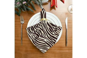 (1) - ALAZA Zebra Skin Pattern Cloth Napkins Dinner Napkins 1 Piece,Reusable Table Napkins Washable Polyester Fabric for Cocktail Party Holiday Wedding Home Decorative
