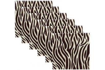 (6) - ALAZA Zebra Skin Pattern Cloth Napkins Dinner Napkins Set of 6,Reusable Table Napkins Washable Polyester Fabric for Cocktail Party Holiday Wedding Home Decorative
