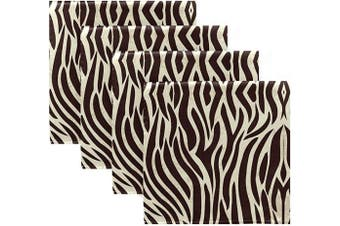 (4) - ALAZA Zebra Skin Pattern Cloth Napkins Dinner Napkins Set of 4,Reusable Table Napkins Washable Polyester Fabric for Cocktail Party Holiday Wedding Home Decorative