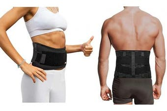 (Large/XL) - Copper Compression Slim Back Brace with Extra Support Bars. Guaranteed Highest Copper Infused Braces for Lower Back Pain Relief. Fit for Men and Women. Lumbar Waist Support Belt Wrap Waist 100cm - 130cm