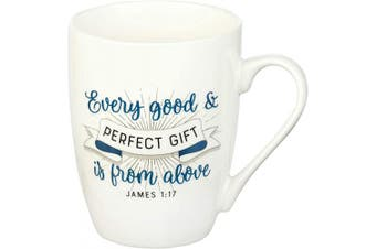 (Every Good Gift) - Every Good Gift James 1:17 Ceramic Christian Coffee Mug for Women and Men - Inspirational Coffee Cup and Christian Gifts (350ml Ceramic Cup)