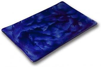 "(8""x12"" Plate) - 10 Strawberry Street IZABEL LAM Cumulus Blue - 20cm x 30cm Rectangular Glass Plate, Set of 2"