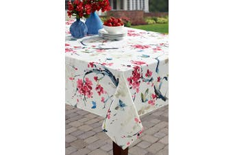 (150cm  X 260cm  Rectangular, Cherry Blossom) - Benson Mills Indoor Outdoor Spillproof Tablecloth for Spring/Summer/Party/Picnic (Cherry Blossom, 150cm X 260cm Rectangular)
