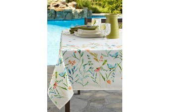 (150cm  X 260cm  Rectangular, Milly) - Benson Mills Indoor Outdoor Spillproof Tablecloth for Spring/Summer/Party/Picnic (Milly, 150cm X 260cm Rectangular)