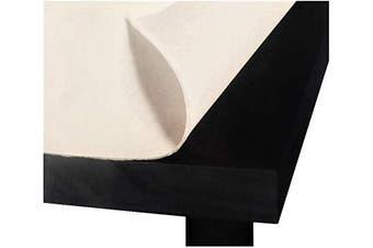 Better Home Premium Felt Back Table Pad, Heavy Gauge White Vinyl 130cm x 230cm Cut to Fit