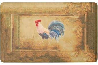 (50cm  x 80cm ) - Chef Gear Hydrangea Vintage Rooster Gelness Mat, 20 x 32, Beige