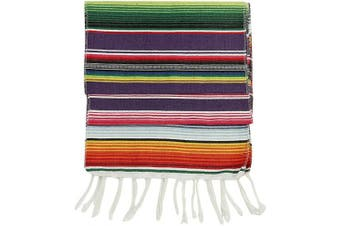 (1) - Mexican Table Runner, 36cm x 210cm , Serape Table Runners, Fiesta Table Runner, Mexican Decorations by Crystal Lemon