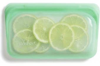 (Snack, Mint) - Stasher 100% Silicone Reusable Food Bag, Snack, Mint