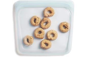 (Sandwich, Moonstone) - Stasher 100% Silicone Reusable Food Bag, Sandwich, Moonstone