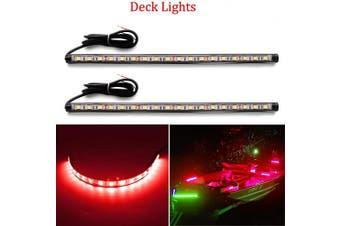 (Red) - Botepon Led Navigation Lights, Boat Red and Green Bow Lights, Boat Stern Lights, Marine Led Lights, IP67 Waterproof for Pontoon Boat Dinghy Kayak Yacht Bass Boat