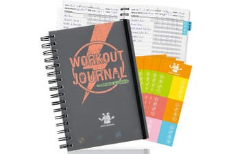 (Workout Journal) - bridawn Workout Nutrition Journal Fitness Planners 2 in 1 Log Book 12 Weeks Tracker with Waterproof Cover Elastic Strap Free Stickers for Daily Exercise and Food Tracking