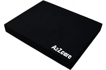 (Black (Large)) - A2ZCARE Premium Quality Balance Pad - Super Soft Pad Provides A Non-Slip Textured Surface (Guideline Included)