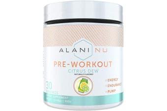 (Citrus Dew) - Alani Nu Pre-Workout Supplement Powder for Energy, Endurance, and Pump, Citrus Dew, 30 Servings